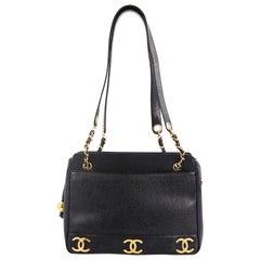 Chanel Vintage CC Shoulder Bag Caviar Medium