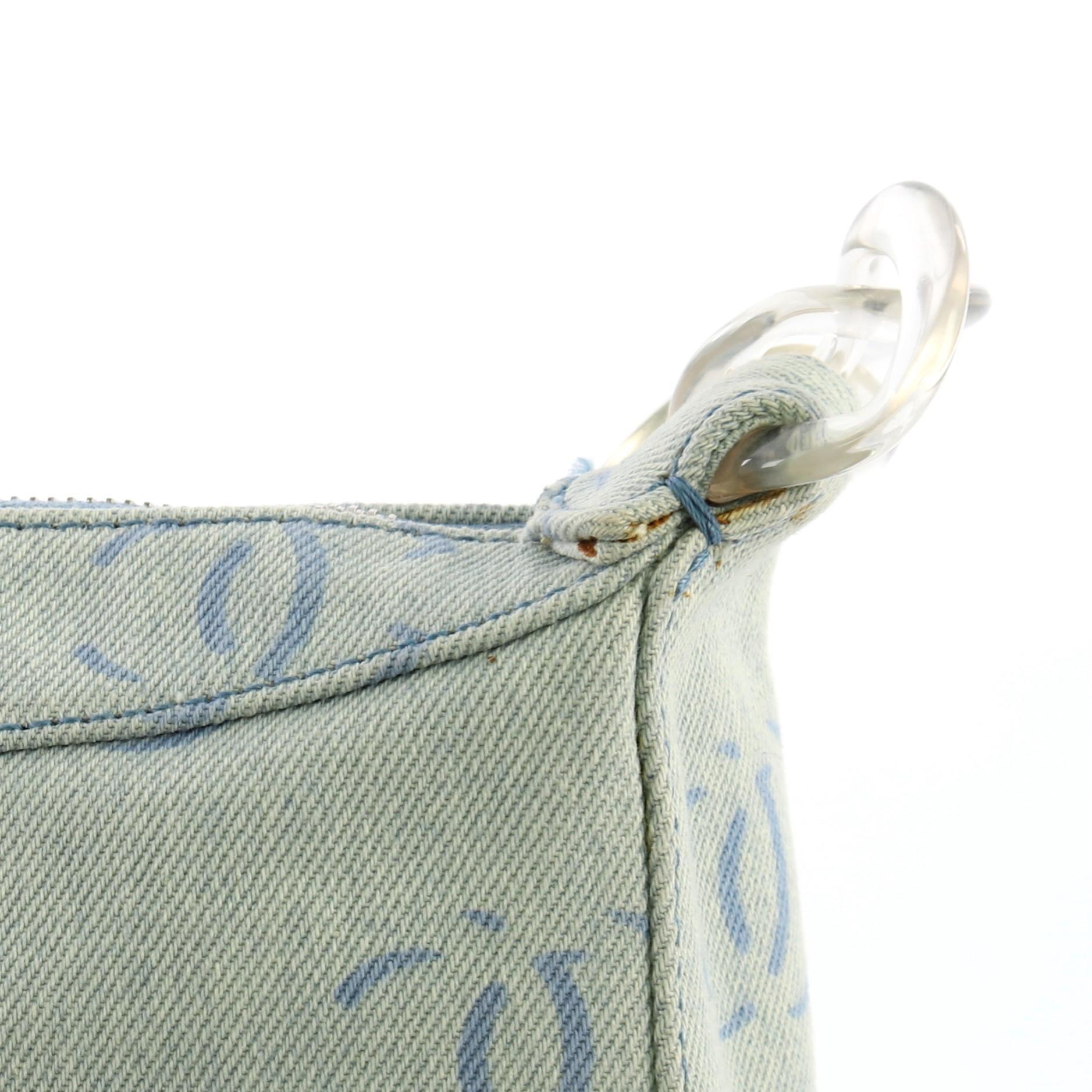2bb50bd992c3 Chanel Vintage CC Shoulder Bag Denim Medium For Sale at 1stdibs