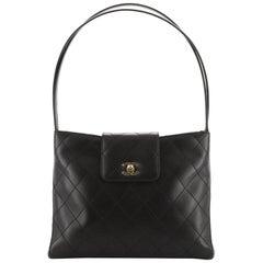 Chanel Vintage CC Shoulder Bag Quilted Lambskin Medium