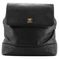 Chanel Vintage CC Stitch Backpack Caviar Medium