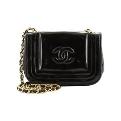 Chanel Vintage CC Stitch Flap Bag Patent Mini