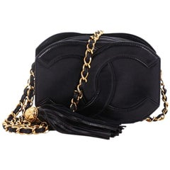 Chanel Vintage CC Tassel Camera Bag Caviar Mini