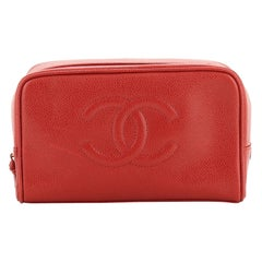 Chanel Vintage CC Toiletry Pouch Caviar