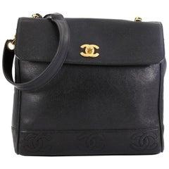 Chanel Vintage CC Top Flap Bag Caviar