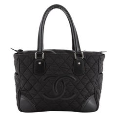 Chanel Vintage CC Tote Quilted Nylon Medium