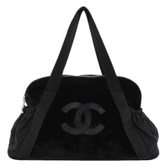 Chanel Vintage CC Tote Velvet Medium