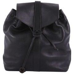 Chanel Vintage CC Turn Lock Backpack Leather Medium