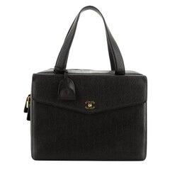 Chanel Vintage CC Zip Around Briefcase Caviar Large