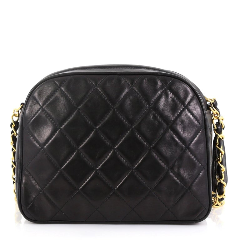 Chanel Vintage Chain Camera Bag Quilted Lambskin Small In Good Condition In New York, NY