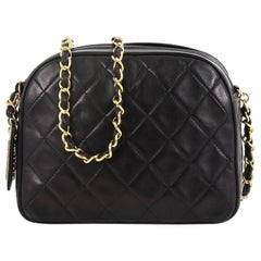 Chanel Vintage Chain Camera Bag Quilted Lambskin Small