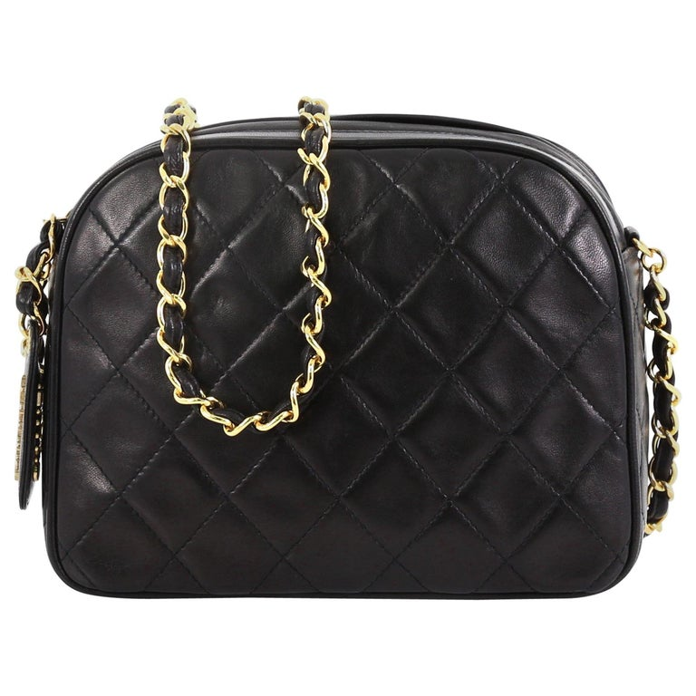 8bdb42d80c45 Chanel Vintage Chain Camera Bag Quilted Lambskin Small For Sale at ...