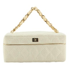 Chanel VIntage Chain Handle Vanity Bag Quilted Jersey