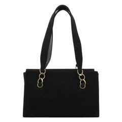 Chanel Vintage Chain Shoulder Bag Quilted Caviar Medium