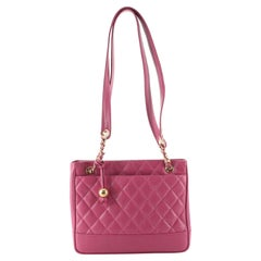 Chanel Vintage Chain Tote Quilted Caviar Medium