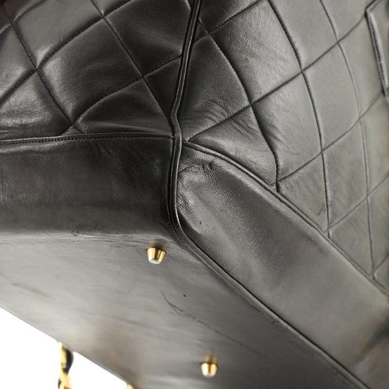 Chanel VIntage Charm Weekender Bag Quilted Lambskin Large For Sale 6
