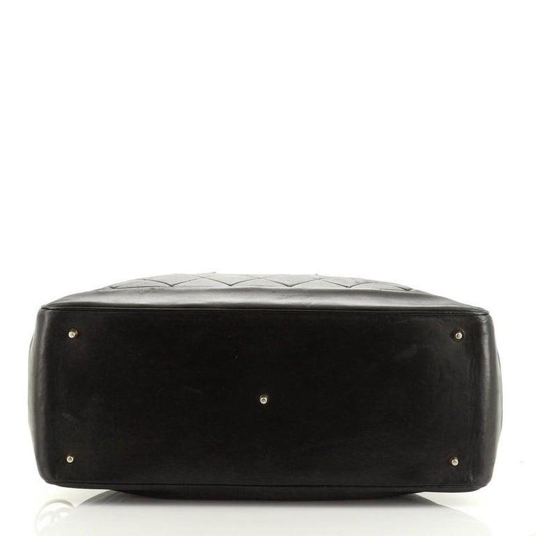 Chanel VIntage Charm Weekender Bag Quilted Lambskin Large For Sale 1