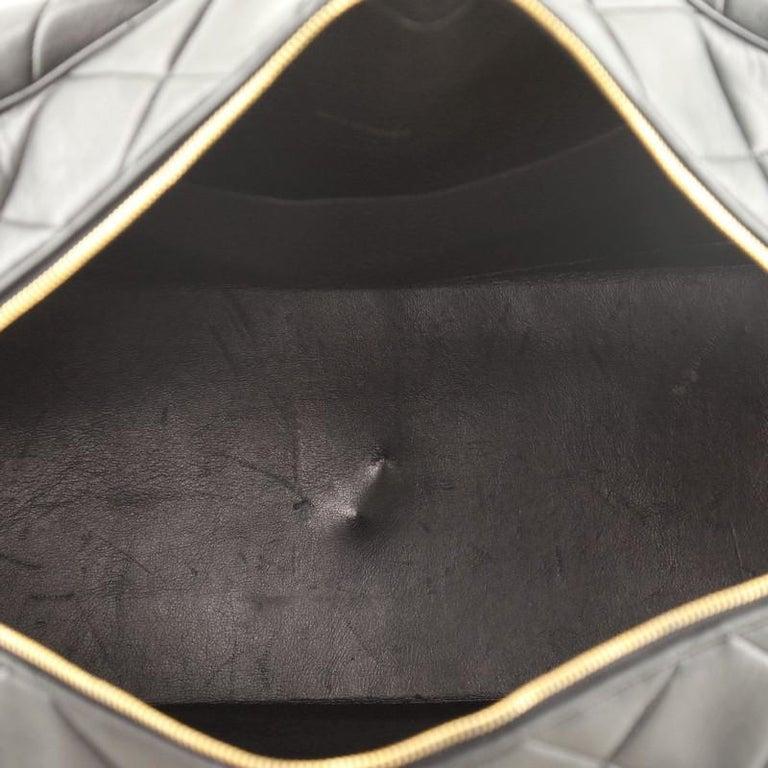Chanel VIntage Charm Weekender Bag Quilted Lambskin Large For Sale 2