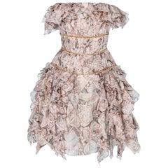 Chanel vintage chiffon cocktail  dress
