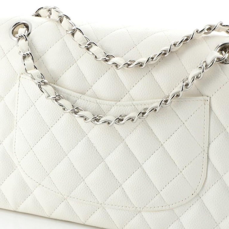 Chanel Vintage Classic Double Flap Bag Quilted Caviar Medium 1