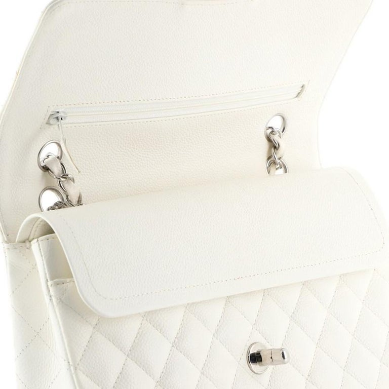 Chanel Vintage Classic Double Flap Bag Quilted Caviar Medium 2