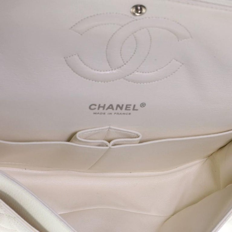Chanel Vintage Classic Double Flap Bag Quilted Caviar Medium 3