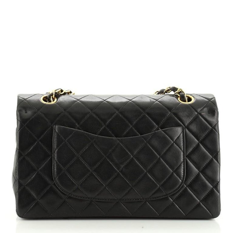 Women's or Men's Chanel Vintage Classic Double Flap Bag Quilted Lambskin Medium