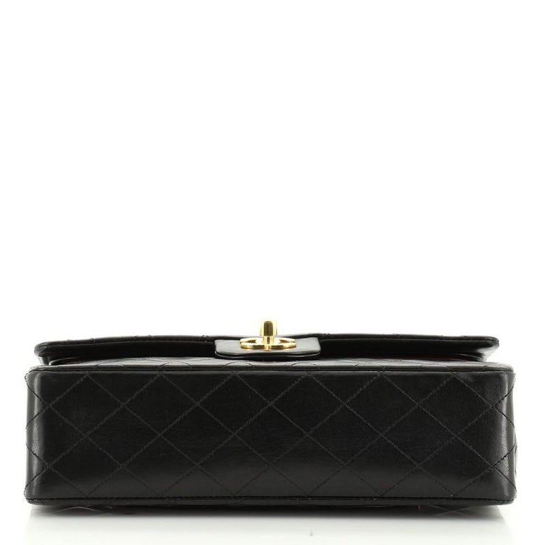 Chanel Vintage Classic Double Flap Bag Quilted Lambskin Medium 1