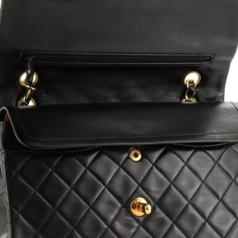 Chanel Vintage Classic Double Flap Bag Quilted Lambskin Medium 3