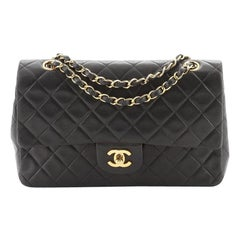 Chanel Vintage Classic Double Flap Bag Quilted Lambskin Medium