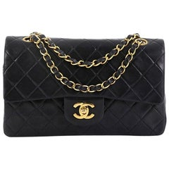 Chanel Vintage Classic Double Flap Bag Quilted Lambskin Small