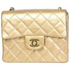 Chanel Vintage Classic Mini Flap Gold