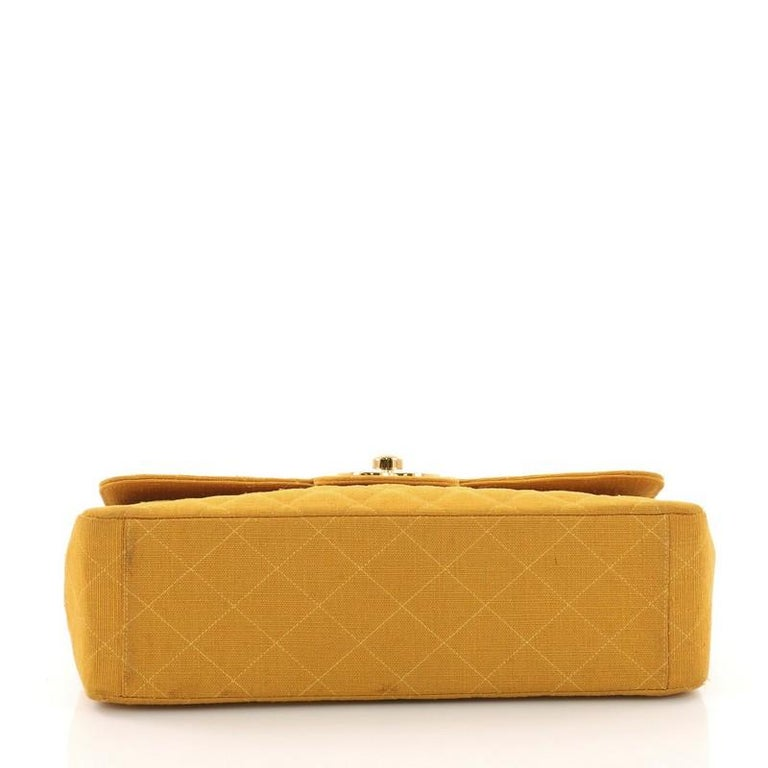 5e8ad479e693 Women's or Men's Chanel Vintage Classic Single Flap Bag Quilted Coated  Canvas Maxi For Sale