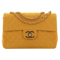 Chanel Vintage Classic Single Flap Bag Quilted Coated Canvas Maxi