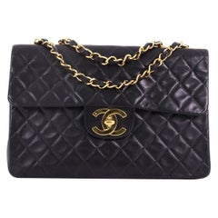 Chanel Vintage Classic Single Flap Bag Quilted Lambskin Maxi