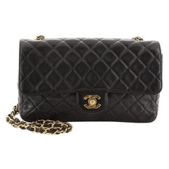 Chanel Vintage Classic Single Flap Bag Quilted Lambskin Medium
