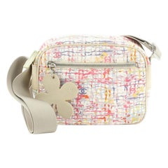 Chanel Vintage Clover Camera Bag Printed Canvas Small