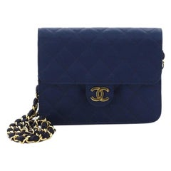 Chanel Vintage Clutch with Chain Quilted Satin Small