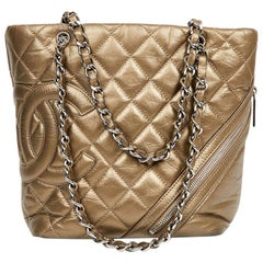 CHANEL Vintage Copper Quilted Leather Bucket Bag