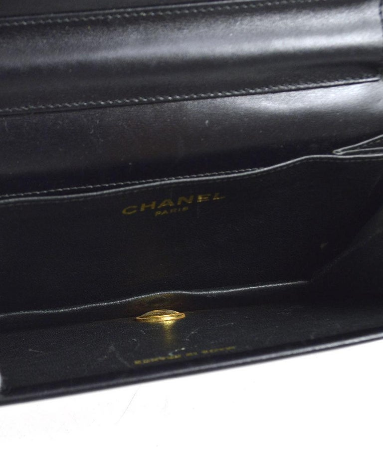 Women's Chanel Vintage Crocodile WOC 2 in 1 Clutch Evening Shoulder Flap Bag For Sale
