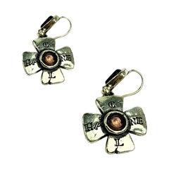 CHANEL Vintage Cross Stud Earrings