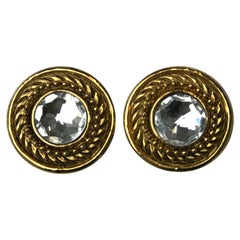 Chanel Vintage Crystal Clip-On Earrings