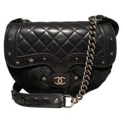 Chanel Vintage Dallas Studded Saddle Bag