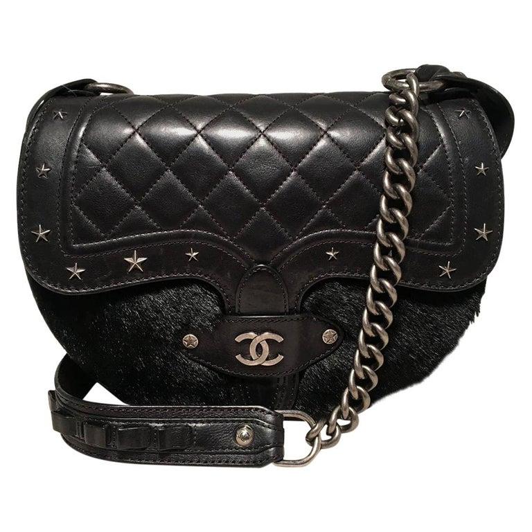 Chanel Vintage Dallas Studded Saddle Bag For Sale