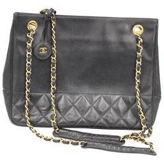 Chanel Vintage Dark Navy  Shopper Bag