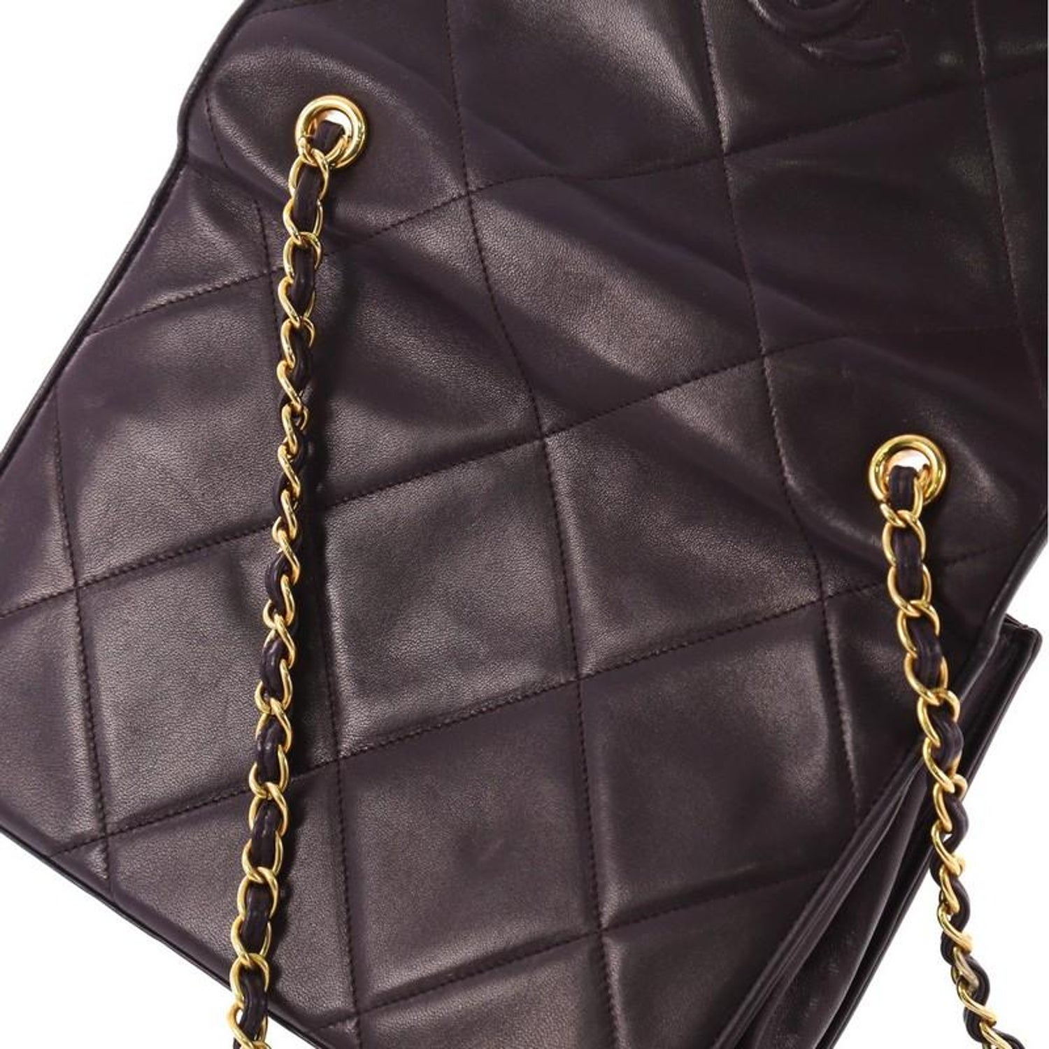 2a1e4342d32a Chanel Vintage Diamond CC Flap Bag Quilted Lambskin Small at 1stdibs