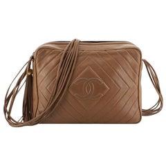Chanel Vintage Diamond CC Flap Pocket Camera Bag Quilted Lambskin Medium