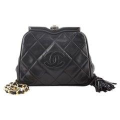 Chanel Vintage Diamond CC Tassel Waist Bag Quilted Lambskin Small