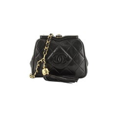 Chanel Vintage Diamond CC Tassel Waist Bag Quilted Lambskin Small