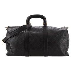 Chanel Vintage Diamond Stitch Boston Bag Quilted Lambskin XL