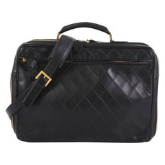 Chanel Vintage Diamond Stitch Weekender Quilted Leather Large